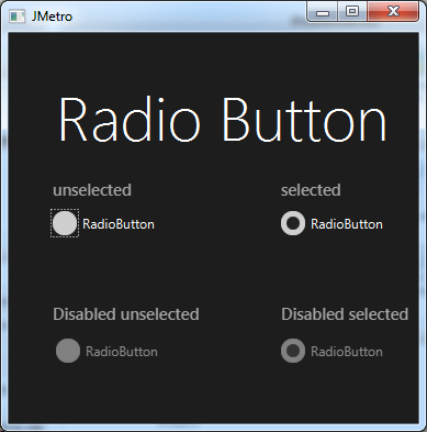 RadioButton(DarkTheme)