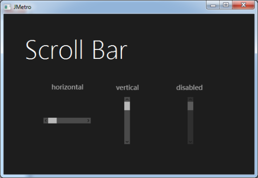 Metro Style Scroll Bar For Java Jmetro Revisited