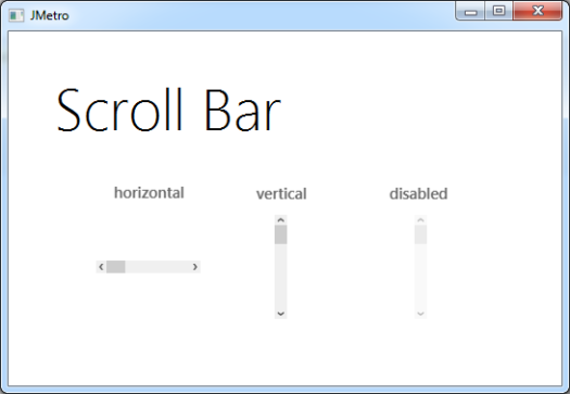 Scroll Bar (Light Theme)
