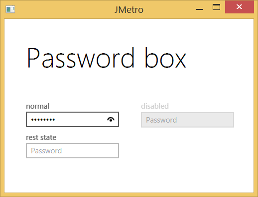 Password Box - Light theme